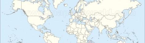 Karta över Madagaskar